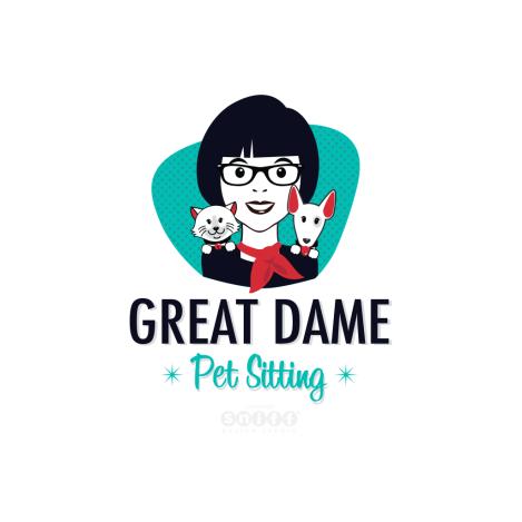 Great-Dame-Pet-Sitting-Business-Logo-Design